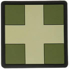 M-Tac нашивка Medic Cross Square ПВХ олива