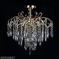 Люстра хрустальная потолочная на 5 лампочек D3013/5 FG R Svitlight