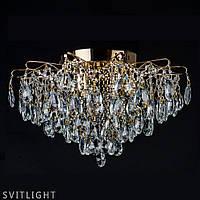 Люстра потолочная хрустальная на 6 лампочек 2034/6 FGD R Svitlight