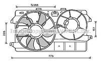 ⭐⭐⭐⭐⭐ Вентилятор салона ФОРД FOCUS I (98-) (производство  AVA)  FD8495