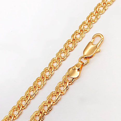 Браслет Xuping Jewelry 19 см х 5,5 мм Ромб с насечками медицинское золото, позолота 18К А/В 5061