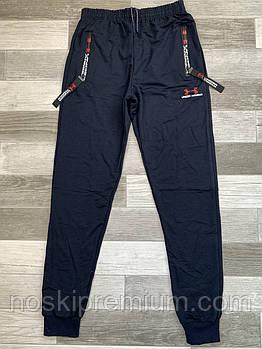 Штаны спортивные мужские хлопок с манжетом Ander Armour, размеры 46-54, тёмно-синие, СМ 0130/06