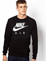 Спортивная кофта Найк, Мужская кофта Nike Air, черная, трикотажная, реглан, свитшот