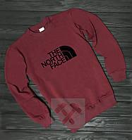 Спортивная кофта Норд Фейс, Мужская кофта The North Face, красная, трикотажная, реглан, свитшот