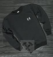 Спортивная кофта Андер Армор, Мужская кофта Under Armour, черная, трикотажная, реглан, свитшот