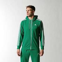 Спортивный костюм Адидас, мужской костюм Adidas, зеленый костюм с лампасами, трикотажный