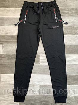 Штаны спортивные мужские хлопок с манжетом Ander Armour, размеры 46-54, чёрные, СМ 0130/08