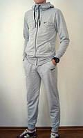 Спортивный костюм Найк, мужской костюм Nike, серый кенгуру, трикотажный