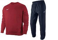 Тонкий спортивный костюм красная кофта, черные штаны