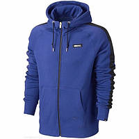 Мужская толстовка Найк, спортивная кофта Nike, темно-синяя, трикотажная, с капюшеном, кенгуру