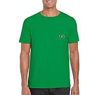 Мужская футболка Under Armour, спортивная футболка Андер Армор, хлопок, зеленая