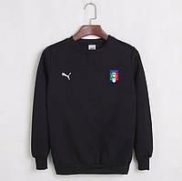 Футбольная кофта, свитшот футбольный Сборной Италии Пума, Italy Puma, черный