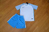 Футбольная форма Nike белый верх, бирюзовый низ