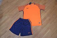 Футбольная форма Nike оранжевый верх синий низ