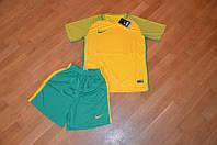 Футбольная форма Nike желтый верх, зеленый низ