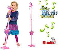 Оригинал. Музыкальный инструмент Микрофон со штативом Simba 6830691