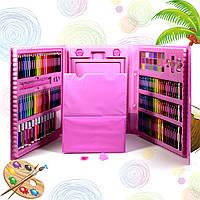 Набор с мольбертом Just Amazing 176 предметов Pink Краски (18) Карандаши (25) Мелки (72) Фломастеры (36)