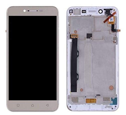 Дисплей (LCD) Lenovo A6020a46 Vibe K5 Plus | Lemon 3 з тачскріном і рамкою, золотий