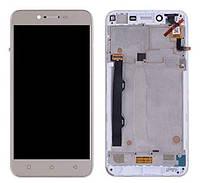 Дисплей (LCD) Lenovo A6020a46 Vibe K5 Plus   Lemon 3 з тачскріном і рамкою, золотий