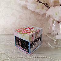 Пригласительный ручной работы в виде коробочки с крышкой, фото 1