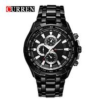 Мужские часы Curren Versace Черные кварцовые