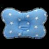 """Детская ортопедическая подушка-позиционер Солодкий Сон """"Класические звезды"""" 18х30 см. Голубой. Бабочка"""