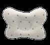 """Детская ортопедическая подушка-бабочка Солодкий Сон """"Серебристый горошек"""" 18х28 см."""
