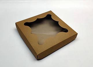 """Коробка для пряников """"Крафтовая с окном 15*15*3 см"""" (5 шт)"""