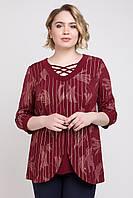 Блуза бордовая 52-62