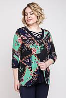Блуза 19030 бордовая 50-52, фото 1
