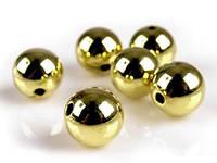 Бусины пластмассовые золотистые 13 мм (10 шт), фото 1