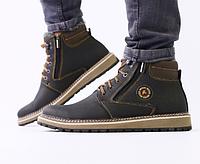 Ботинки мужские зимние ECCO коричневые кожаные, фото 1