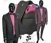 Чоловічий костюм бордо Snijana № 123/2 -138- MO 1030 D40 c6