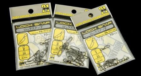 Застібка силова Pontoon21 Snap Lock, кол. чорний, #3, 10 шт. 45 кг.