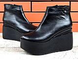 Ботинки женские на платформе из натуральной  кожи или замши демисезонные Mary, фото 3