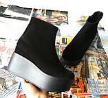 Ботинки женские на платформе из натуральной  кожи или замши демисезонные Mary, фото 9