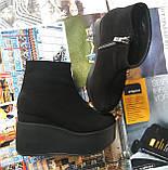 Ботинки женские на платформе из натуральной  кожи или замши демисезонные Mary, фото 10