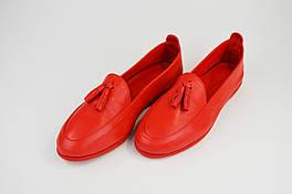 Мокасины кожаные Phany 36713 Красные