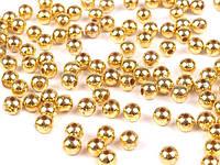 Бусины золотистые 4 мм (10гр)
