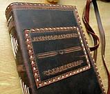 Ежедневник кожаный винтажный именной ручной работы формат а5, фото 6