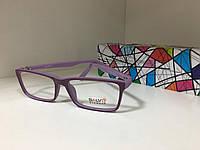 Стильная оправа для очков яркая подросток прямоугольники прорезиненая 510459 сиреневая (SKU555)