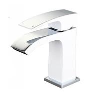 Змішувач для раковини білий / хром Gappo Jacob G1007-8