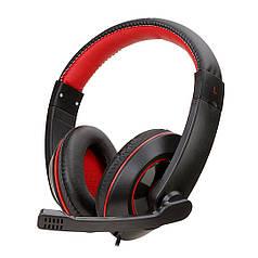 Гарнитура SOYTO SY722MV Черно-Красная для компьютера ноутбука смартфона музыкальная игровая эргономичная USB