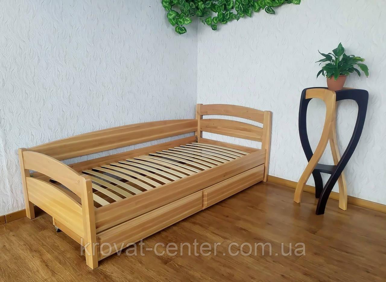 """Односпальне дерев'яне ліжко з ящиками від виробника """"Березня"""""""