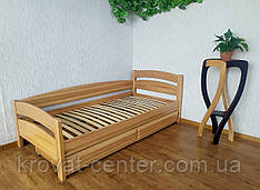 """Односпальне кутова ліжко з ящиками від виробника """"Березня"""""""