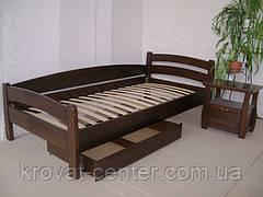 """Односпальне дерев'яне ліжко з ящиками від виробника """"Березня"""", фото 2"""