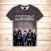 Футболка 3D Scorpions Crazy World, фото 1