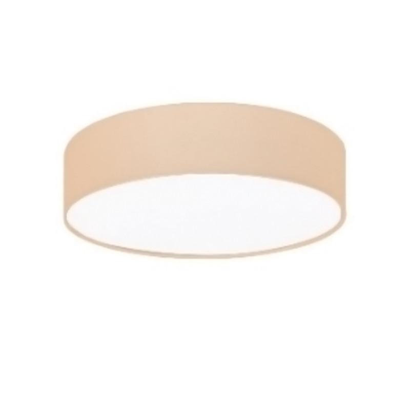 Люстра потолочная на четыре лампы с абажуром NM-S814687/4A WT+BR+WT E27 TK хром