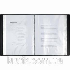Дисплей-книга 80 файлів у пластиковому боксі (колір чорний), фото 2