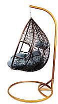 Подвесное кресло-качалка кокон B-183Е (коричнево-серое), фото 2